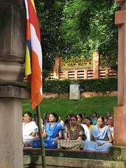 Mahabodhi Temple   meditators   ladies