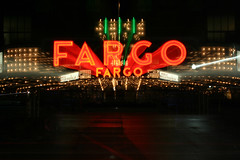 Trippy Fargo (Orfield Photography) Tags: light color colors night lights theater downtown neon zoom north broadway ave nd effect dakota fargo