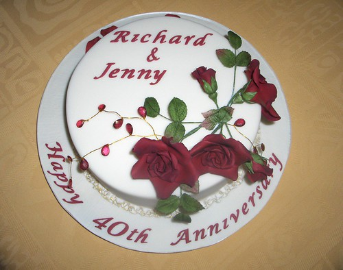 pictures of 40th anniversary cakes.  40th wedding anniversary cake