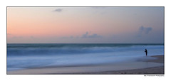 Solitude (~* Rae Rae *~) Tags: ocean longexposure sunset copyright seascape beach water fishing australia canon350d westernaustralia kalbarri raethrenoworthphotography apcomp blueelementphotography apcompwa apcompwa2006 apcompwa2006october apcompwa2006octobera apcompwa2006octoberafirst raethrenoworth blueelement