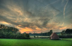 HDR: Evening clouds over Farrnbach Valley