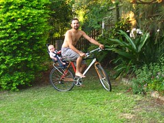Bike baby seat test run