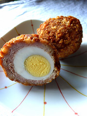 scotch egg (chotda) Tags: food traditional egg interestingness1 sausage scottish meat retro snack fried scotchegg