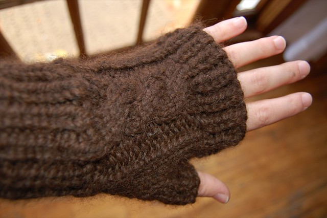 Ravelry Cabled Fingerless Mitts Pattern By Joelene Wiggins And