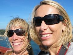 Golden Gate Bridge- me and nat (SeenyaRita) Tags: sanfrancisco me blondes shades goldengatebridge seenyarita incognito nathaliepahudbriquet luckyearrings