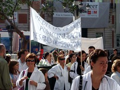 Médicos que protestan