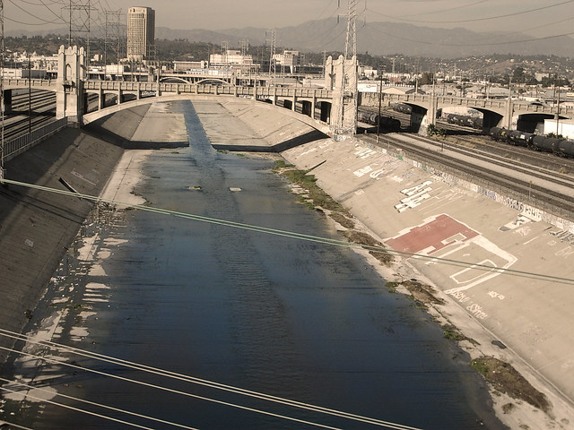 Los Angeles River via Fire Monkey Fish on Twitter