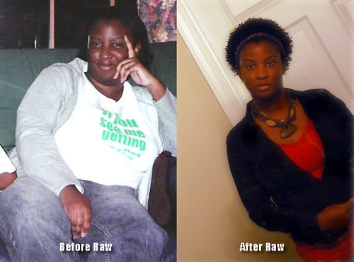 Before and After becoming a Raw Foodist
