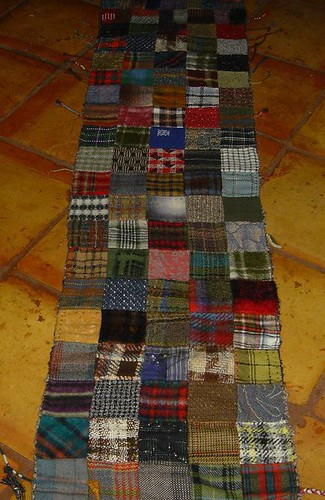 wool patchwork scarf
