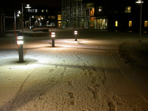 First snow at UAA