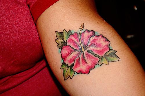 hibiskus tattoo. Monique#39;s Hibiscus Tattoo