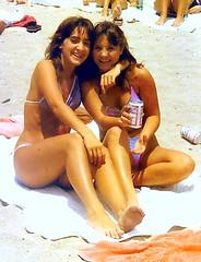 Two Bathing Beauties 1983 (StevenM_61) Tags: girls youth teenagers 1983 swimsuit 1980s bikinis teenagegirls 80sfashion teengirls embarrasingphoto