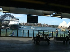 View from the train at Circular Quay in Sydney