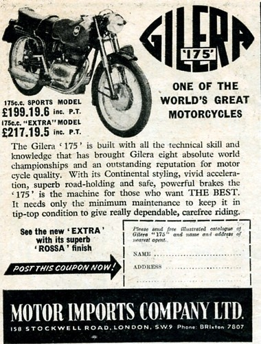 Gilera 175 Sport Ad by montanaman1