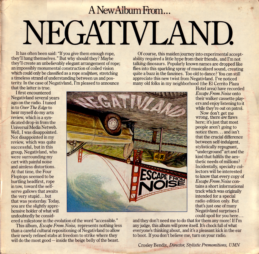 Negativland-Escape from Noise