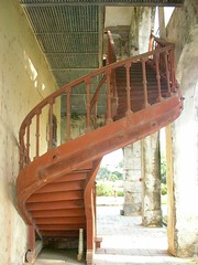 french staircase (Rex Pe) Tags: china architecture buildings ruins bordertown guangxi architecturaldetails longzhou ancientbuildings modernbuildings minorityvillage interestingobjects zhuangvillage