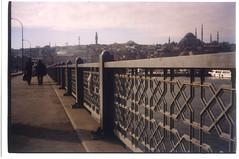 Galeta Bridge, Istanbul (brunoboris) Tags: bridge turkey golden trkiye istanbul mosque horn guardrail halic galeta