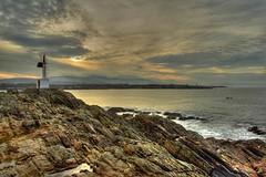 Ria del Eo (DavidGorgojo) Tags: sea sky canon faro eos 350d mar rocks waves asturias galicia cielo olas ria hdr rocas 100club eo ribadeo barres arnao 50club