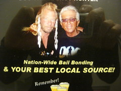 Dog the Bounty Hunter in the bathroom
