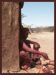 Himba family (Marijke-s) Tags: africa people animals children dessert african culture rica tribal safari zimbabwe afrika botswana tribe ethnic namibia tribo zuid himba afrique ethnology tribu namibie marijkes tribus ethnie