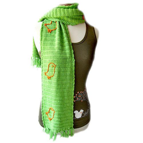 Snotty Bird Scarf (Green)