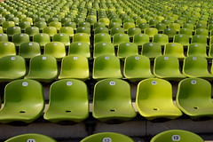 Mnchen - Olympic Stadium - Green Seats (linolo) Tags: park green 510fav germany munich mnchen bavaria interestingness chair europe stadium seat seats olympic olympiapark   canon1740f4l colorphotoaward
