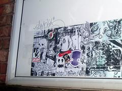 Mono-407 (Lord Leigh) Tags: street urban art illustration breakfast paper graffiti mono design robot amazing stencil fucking leicester stickers lord leigh mista abdn abandonview