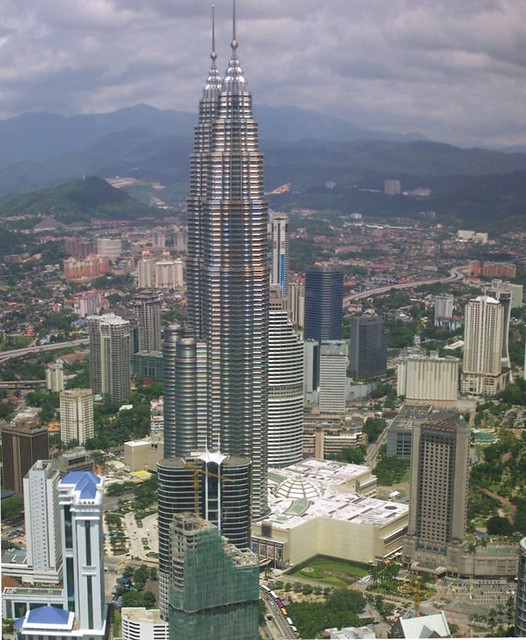 Petronas Towers over the KL Skyline