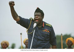 Idi Amin gives a speech to his people. (foxsearchlightphotos) Tags: foxsearchlight lastkingofscotland
