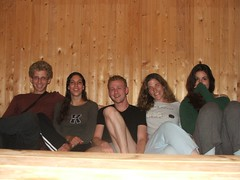 Ophir, Yasmin, Nir, me and Hadar in our room in  (Yaelila) Tags: travel smile norway youth hostel room  scandinavia lofoten