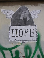 don't be blind...look out there is... HOPE (poly_mnia) Tags: street urban streetart color colour art colors wall hope graffiti colours athens urbanart greece dearflickrfriend kdagas geniiloci hope76