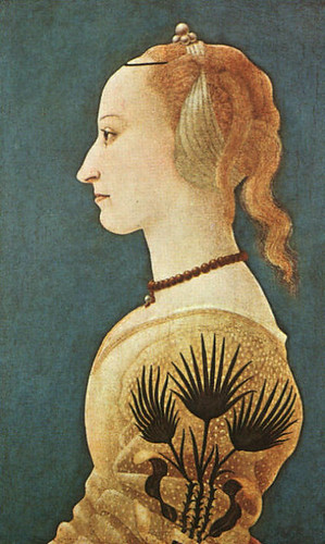 Alessio Baldovinetti, Portrait of a Lady in Yellow ,1400s