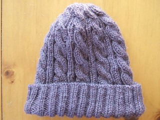 Free Knitting Pattern For Beanie In 8 Ply : Ravelry: 3AM Cable Hat pattern by SmarieK