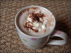 Hot Chocolate with Whipped Cream (Yes Becky) Tags: home cookies baking 2006 hotchocolate homebaking homemadecookies tessakiros applesforjam frostedbananacookies