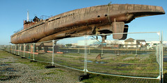 U-534 boat stored on the dock side in Birkenhead www.coastandboats.co.uk (jimmedia) Tags: sea history museum docks boat rust war ship sub shed submarine warehouse birkenhead german weapon uboat wreck salvage mersey wirral merseyside warfare u534
