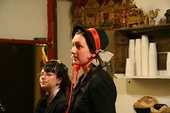 Red ribbon (Brenda_Lillian) Tags: hat redribbon victorian bonnet dickensfaire
