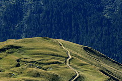 To be continued ... (brun_o) Tags: road mountain france alps green nature topf25 grass forest alpes landscape bravo path horizon hill tranquility mind future end imagine winding savoie savoy sine specland specnature fivestarsgallery anawesomeshot