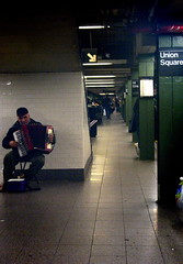 union square (girlhula) Tags: city nyc newyorkcity music newyork subway manhattan accordian unionsquare accordianplayer