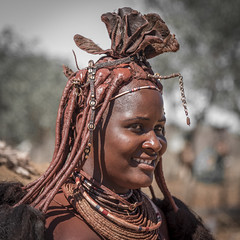himba woman (catherina unger) Tags: namibia himba tribe nomads women woman portrait