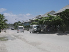 Getting around in Kiribati you stop this type of cars and pay s small amount after how far you will go!