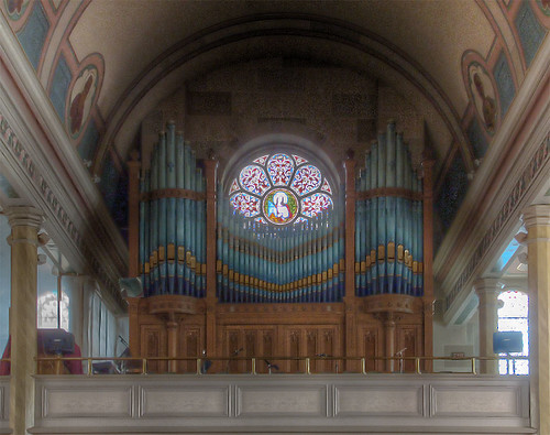 Saint Francis Borgia Church, in Washington, Missouri - choir loft and organ.jpg