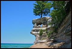Chapel Rock Pictured Rocks National Lake Shore and Lake Superior - by Jim