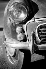 cobwebbed morris (hoogen imagery) Tags: old classic car australia victoria cobweb morris blacknwhite daylesford hoogenimagery