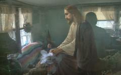Jesus healing <span class=