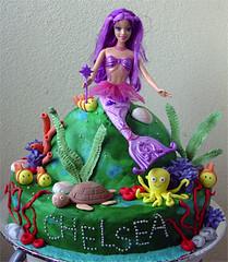 Barbie Mermaid Chelsea (specialcakes/tracey) Tags: birthday cake doll barbie mermaid undersea
