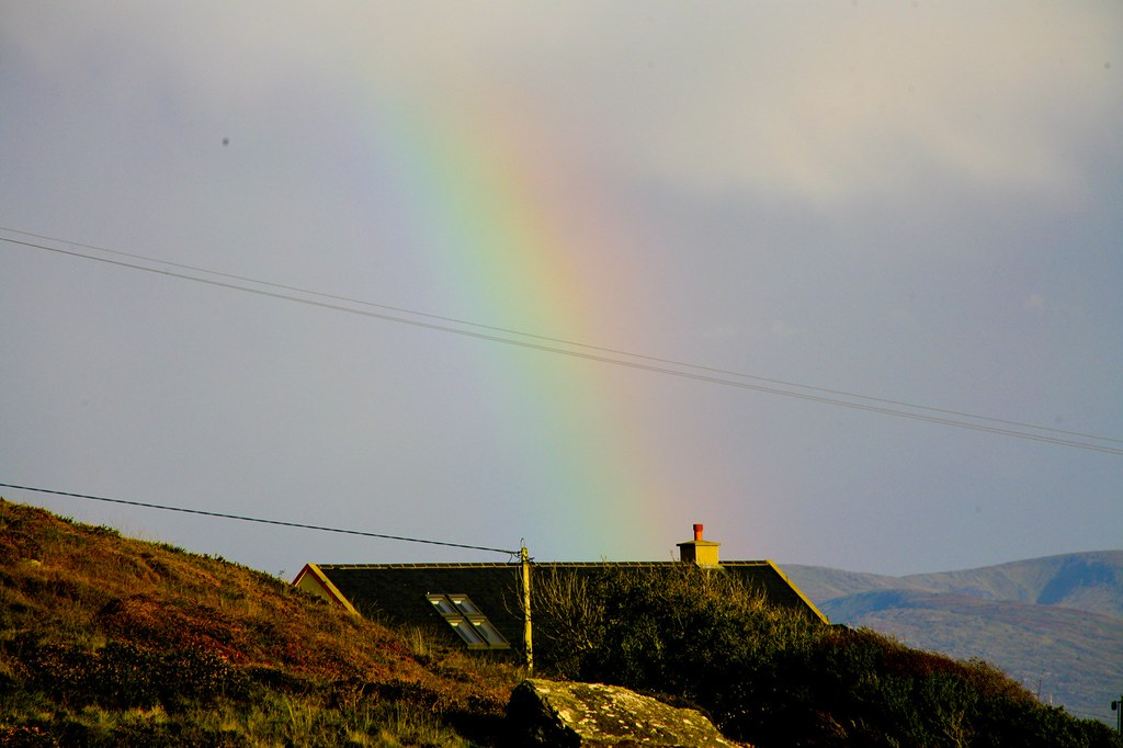 CROCK OF GOLD AT END OF RAINBOW