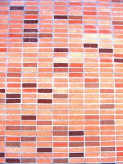 10.02.06 (elleinad.) Tags: california ca red orange brown brick wall pattern patterns bricks rows brickwall brickwalls walls reds elsegundo elsegundocalifornia eshs 90245 elsegundohighschool