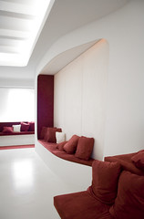 a space outta space (frischmilch) Tags: red white architecture germany relax design furniture kubrick interior room lounge cologne style retro afterwork couch agency spaceship form spaceshuttle interiordesign nordrheinwestfalen stylish redandwhite chillout interiorarchitecture retrostyle antwerpes doccheck retrolook panelformat portraitformat roomdesign chilloutarea