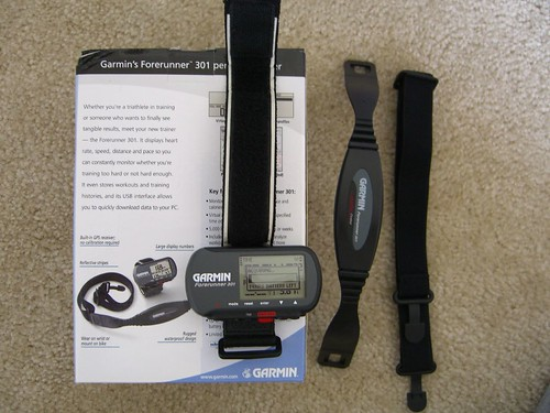 $143  Garmin Forerunner 301 Personal Trainer W/ Heart Rate Monitor