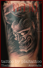 My Tattoo work : hanya mask bg1